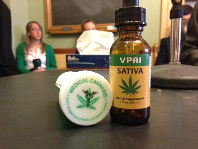 Senate lawmakers are applying a fresh round of scrutiny to the packaging used for edible marijuana products - like the pills and tincture pictured here - sold in Vermont's four medical marijuana dispensaries