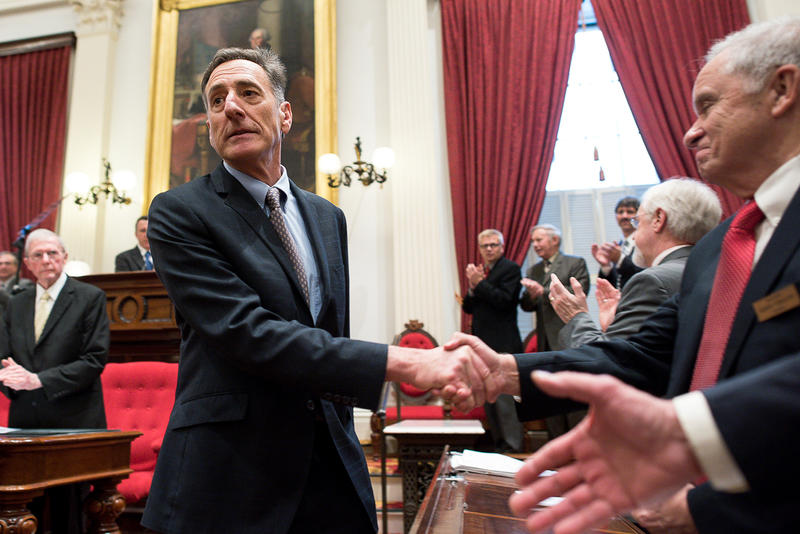 Gov. Peter Shumlin focused his budget address on a payroll tax on all businesses that would raise more than $90 million annually and redistribute costs within the medical system.