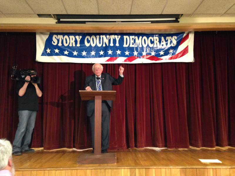 Sen. Bernie Sanders attended the Story County Democratic Party's soup supper fundraiser.