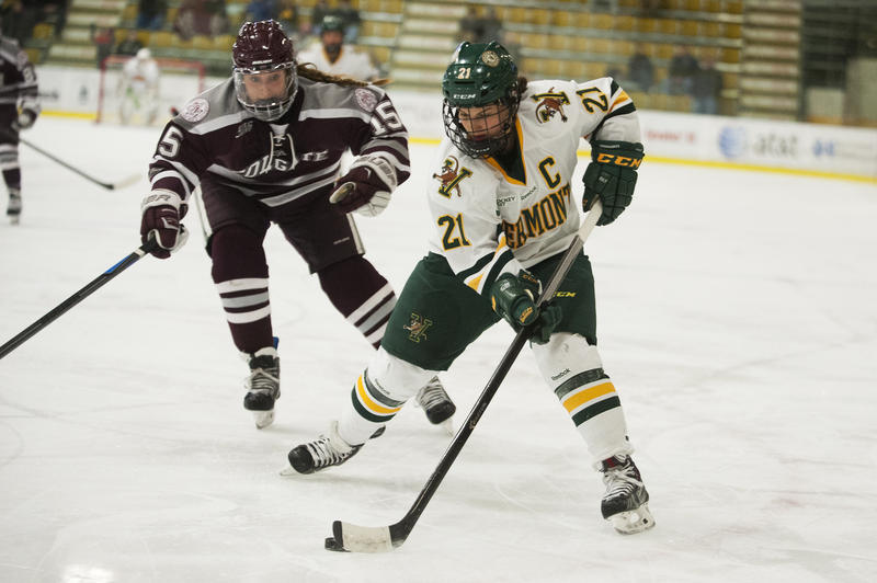 UVM senior Amanda Pelkey, the most talented women's hockey player in the state, will likely end her college career this weekend in Boston.