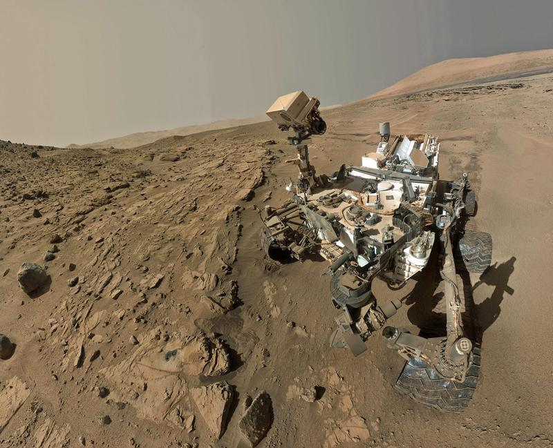 NASA's Curiosity Mars rover used the camera at the end of its arm in April and May 2014 to take dozens of component images combined into this selfie. CCV students are hoping to head to NASA to work on their own Mars missions.