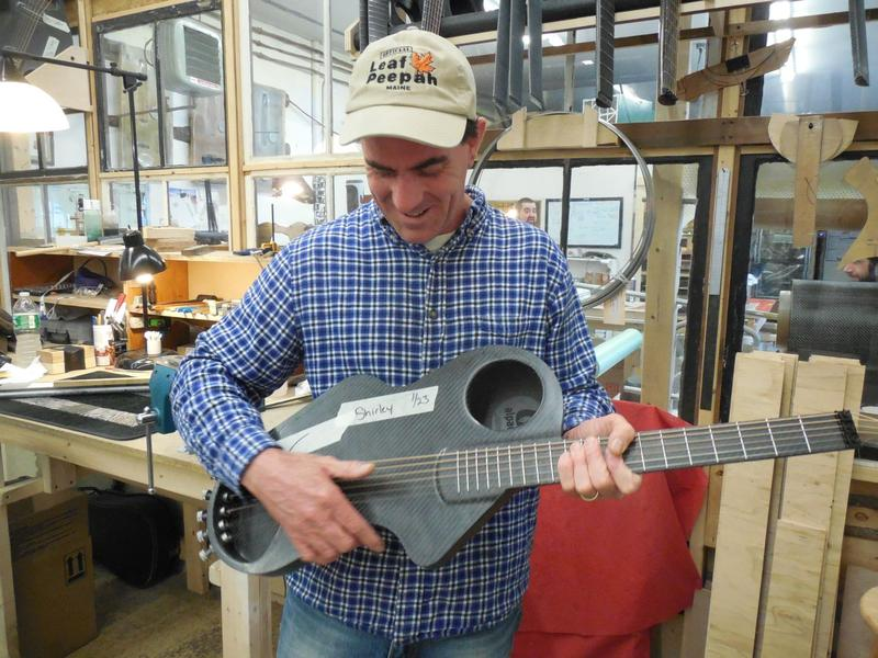 Chris Duncan, founder of Alpaca Guitars in Bethel, came up with his lightweight guitar design after destroying instruments on a long family road trip.
