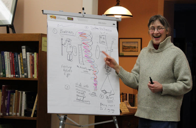 "Hilary Mullins teamed up last year to teach ""The Art of Powerful Non-Defensive Communication,"" one of the courses offered at Bethel University, a pop-up community school that offers a wide variety of free classes open to anyone, Bethel resident or beyond."