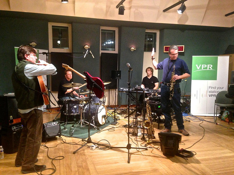 Eight 02 performing live in the VPR Studios.