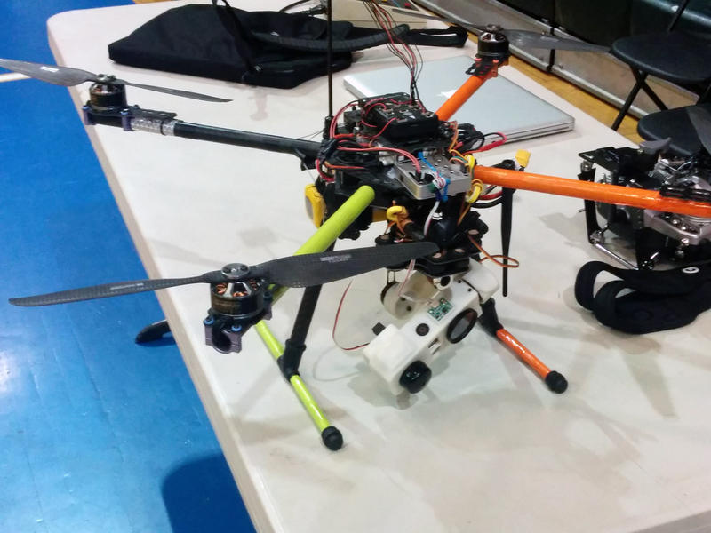One of AirShark's drones was on display at Generator, the Burlington makerspace where the company is based. The company develops software and hardware for drones to monitor energy, transportation and construction projects.