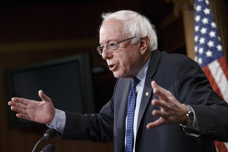 Sen. Bernie Sanders, pictured here in Washington in January, has been making appearances throughout the country that lead Eric Davis, retired Middlebury College political science professor, to think he will announce his candidacy for president this year.