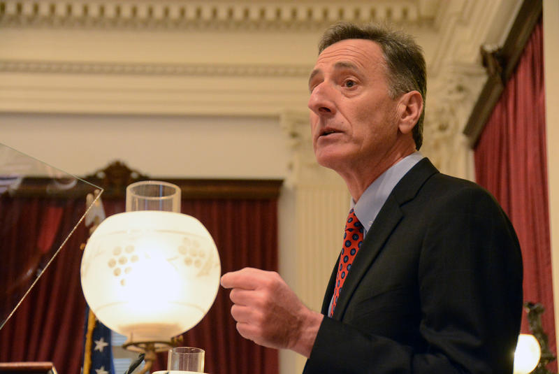Gov. Peter Shumlin, shown here at his inauguration on Jan. 8, is trying to sell his plan to boost Medicaid reimbursement rates to the state's business community by arguing that the proposal is basically cost neutral.