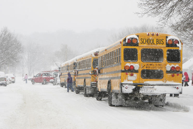 Many superintendents and principals rely on the nNational Oceanic and Atmospheric Administration's website for details on local storms. Based on this information, they the make a decision on school cancellations.