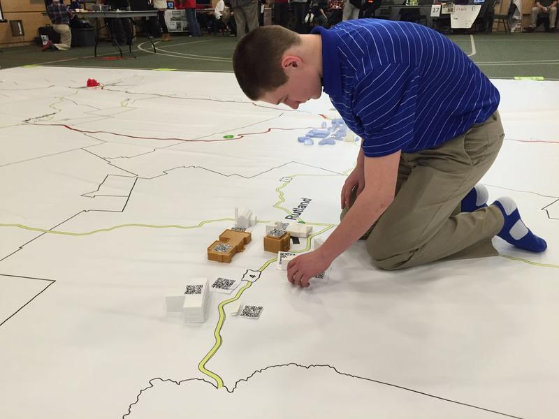 Tyler Regula is a member of the Rutland Town school team that recreated several historic buildings in his area.