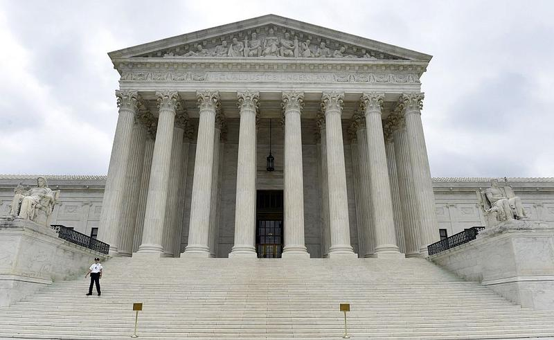 The Supreme Court building in Washington, D.C. In April, justices will hear oral arguments that could lead to a landmark ruling on same-sex marriage rights.