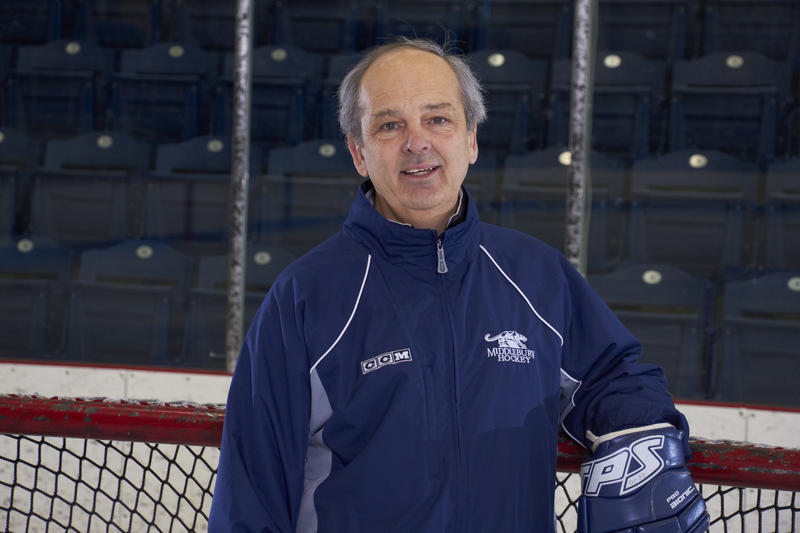 Middlebury College Hockey Coach Bill Beaney is stepping down after 28 years and eight NCAA Divison III titles.