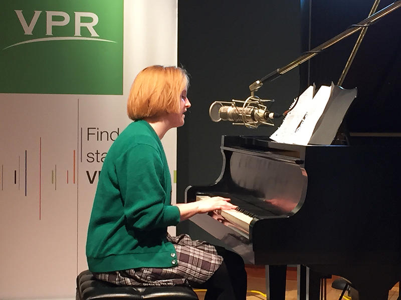 "Alice Schroeder, a senior at Burlington High School, will be singing four sublime, arresting originals this Friday night on ""Friday Night Jazz,"" and accompanying herself on piano."
