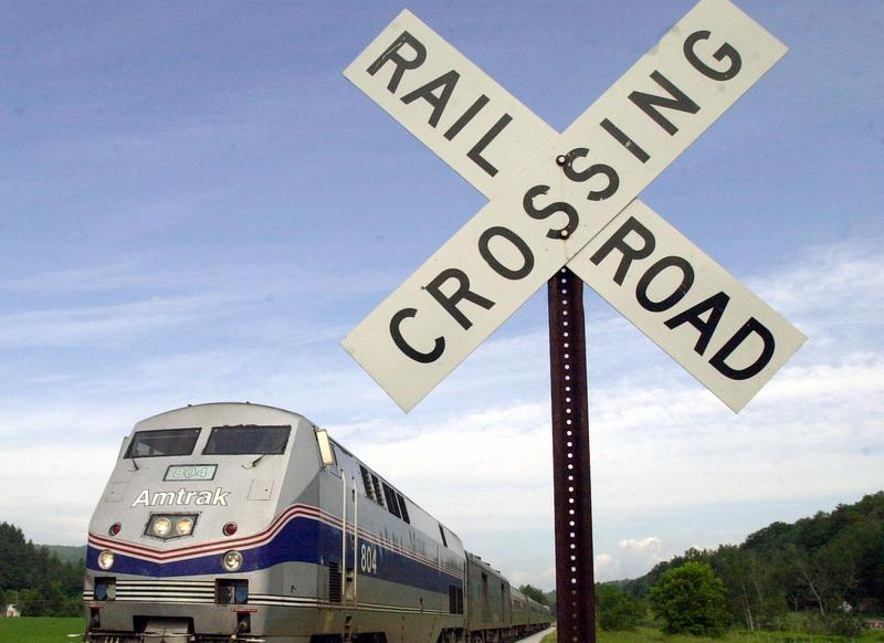 An Amtrak train heads down the tracks in Middlesex in this June 27, 2002 file photo. A new proposal envisions statewide passenger routes, but there's no clear plan to pay for the massive track upgrades needed to complete them.