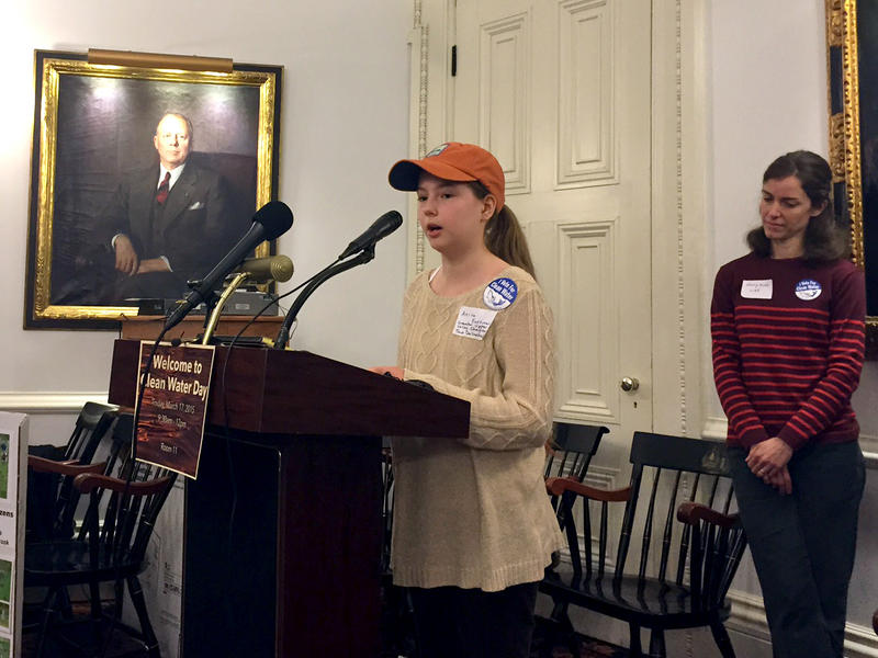 Trout Unlimited member Anika Eastman, 11, urged lawmakers Tuesday to raise revenues for legislation that aims to reduce the flow of pollution into rivers, ponds and lakes.