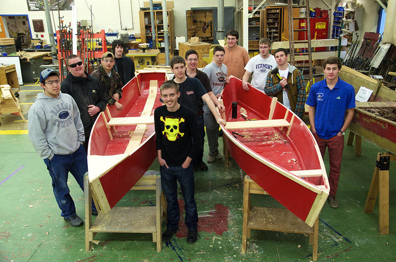 A group of students at the Hannaford Career Center in Middlebury has researched trapping boats, created CAD drawings of historic boats and built two full-scale replicas.