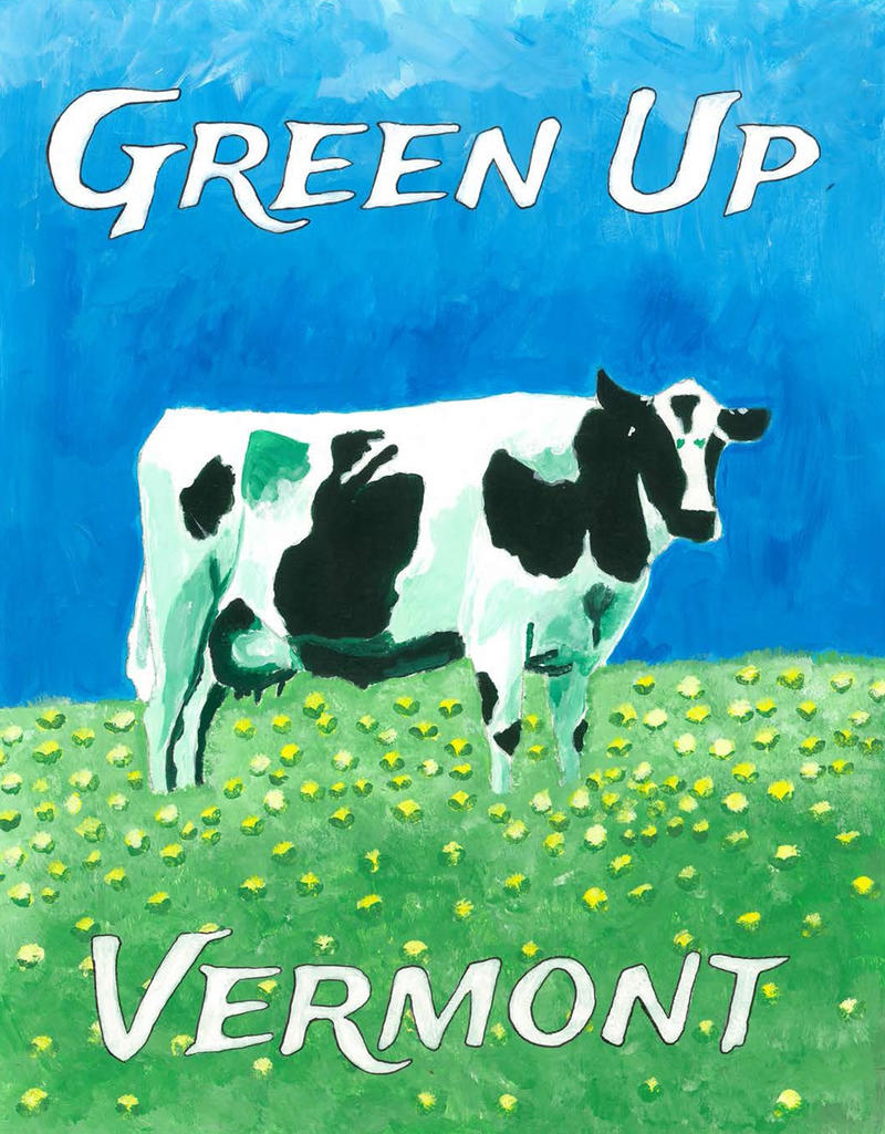 Montpelier High School junior Chloe Boyce designed the 2015 Green Up Day poster.