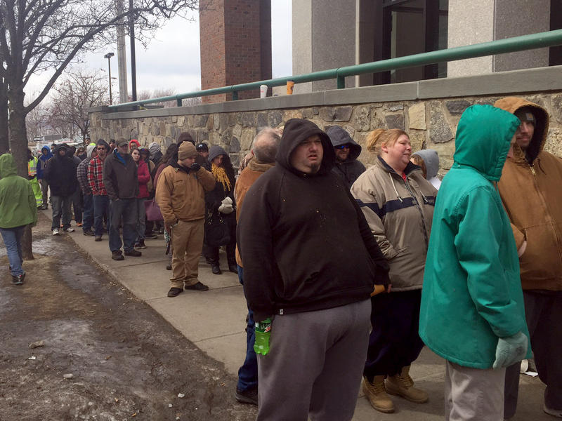 Vermonters from five counties lined up outside the Edward Costello Courthouse in Burlington on Friday to take advantage of a one-day pilot program that reduced fines for unpaid traffic tickets.
