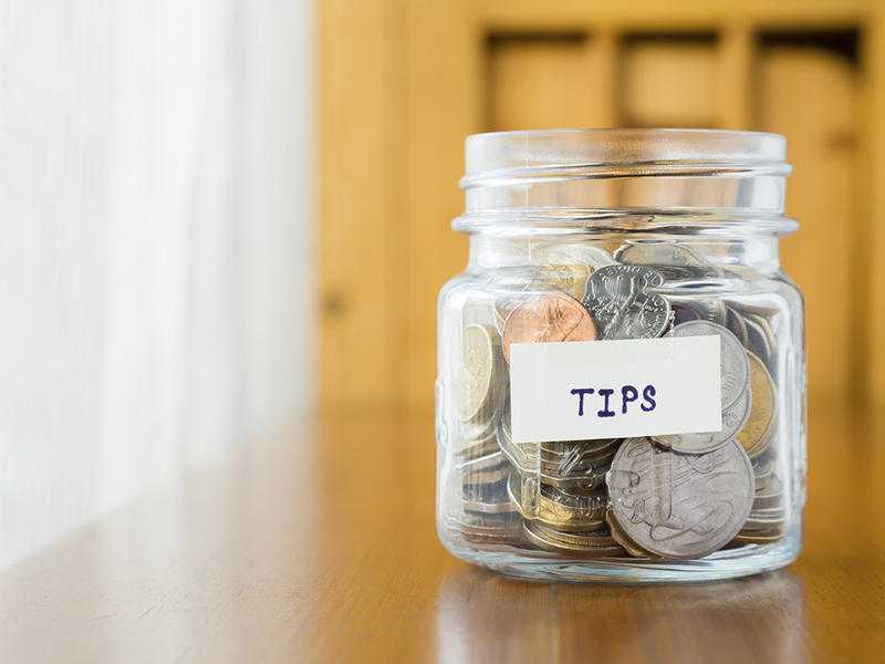 """To tip or not to tip, and how much? Sally Pollack, food writer for the """"Burlington Free Press,"""" has been investigating these matters, as well as researching new forms of tipping."""