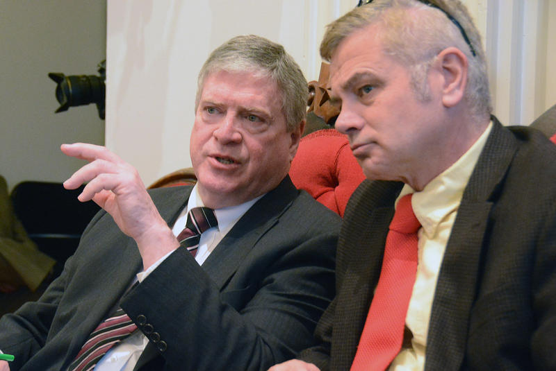 Windsor County Sen. John Campbell, left, told VTDigger's Mark Johnson Friday that he's leaving elected office after the 2016 legislative session.