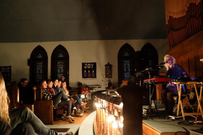White Hinterland performs at the Winooski United Methodist Church May 3, 2014.