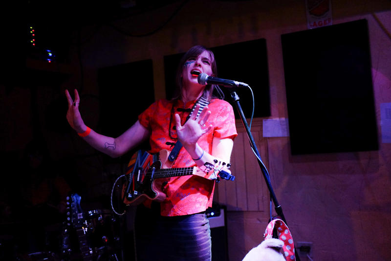 And the Kids frontwoman Hannah Mohan performs during the fourth Waking Windows Festival in Winooski.