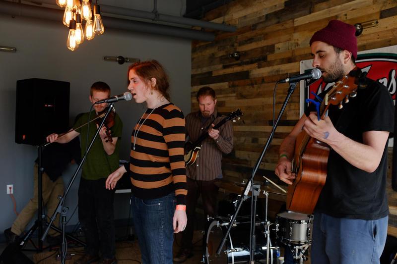 Burlington-based indie folk band Quiet Lion performs at Oak 45.