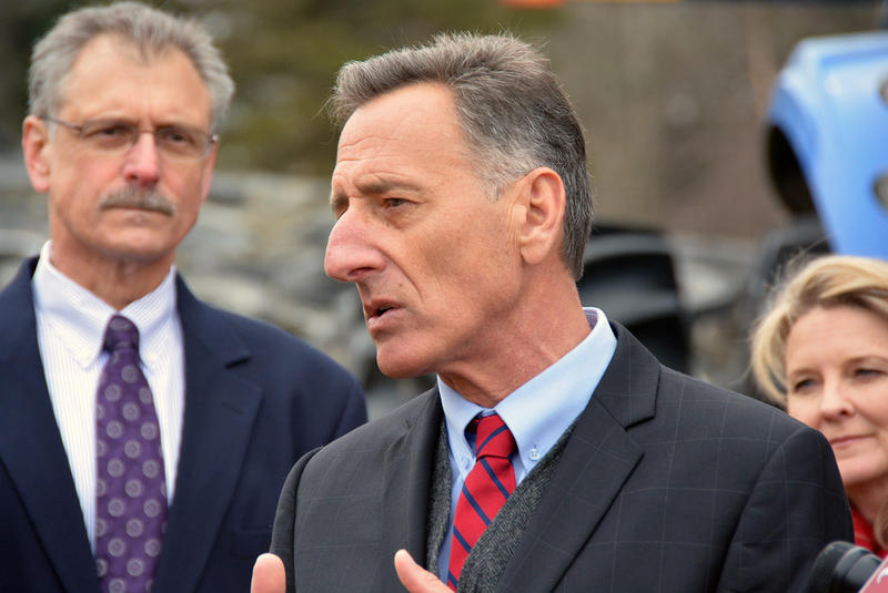 "Gov. Shumlin held a press conference at Degraaf Dairy in Richmond on Thursday, where cellular antennas on a silo have done away with the ""Richmond hole"" of service. The state is making slow progress on bringing universal access to the entire state."