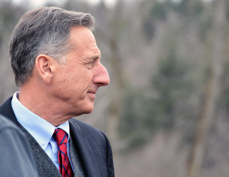 Gov. Peter Shumlin, shown here in Richmond on April 2, says a health care package being developed by the Vermont House doesn't go far enough in addressing the Medicaid cost-shift issue.