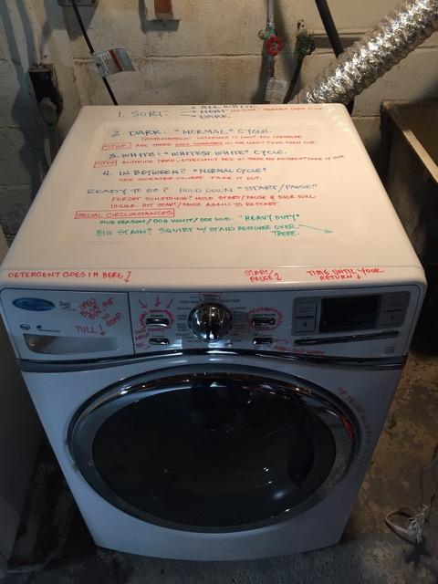 Washer with Special Care Instructions