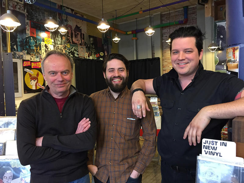 Buch Spieler Records founder Fred Wilber, left, has sold the Montpelier fixture to Xavier Jimenez and Knayte Lander. The new owners think the future lies in the same thing that sustained the store when it started 42 years ago: vinyl records.
