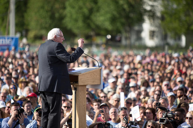 Sen. Bernie Sanders touched on a range of issues in his speech to thousands at Burlington's Waterfront Park, from climate change and early education to campaign finance and income inequality.