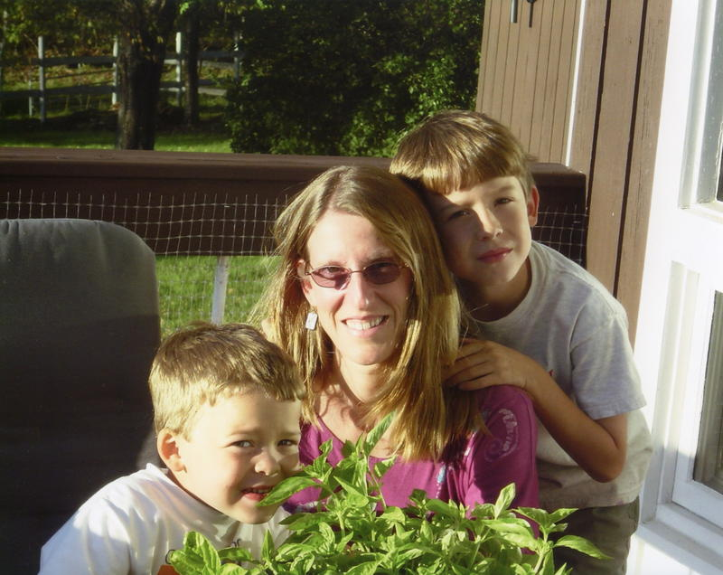 Deanna, Solon and Liam in July, 2006