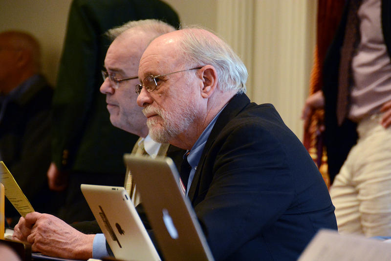 Rep. David Deen, shown here on April 24, says the $10 million piece of legislation would bankroll the initiatives needed to reduce the amount of phosphorus flowing into Vermont's waterways. But critics say the funding source could harm the economy.