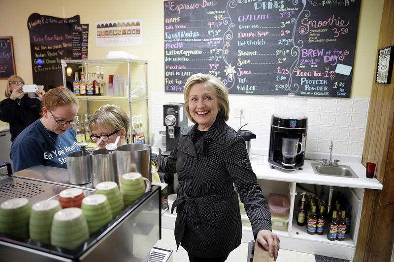 Democratic presidential candidate Hillary Clinton, shown here in Iowa in May, got Gov. Peter Shumlin's endorsement today when the governor took to Twitter to announce his pick over Sen. Bernie Sanders.