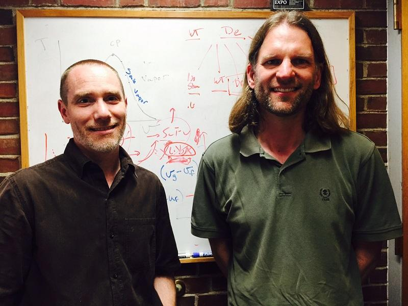 Karl Griswold and Chris Bailey-Kellogg, professors at Dartmouth's Thayer School of Engineering, are researching ways to redesign a protein capable of killing deadly MRSA bacteria.