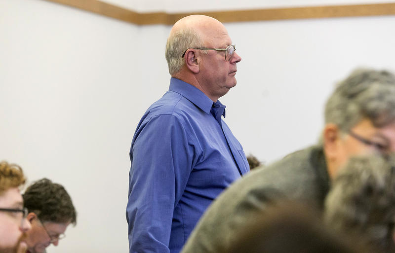 Sen. Norm McAllister, shown here at his May 8 arraignment on sex charges, was in line to receive a $20,000 state agriculture grant that Secretary of Agriculture Chuck Ross has since revoked.