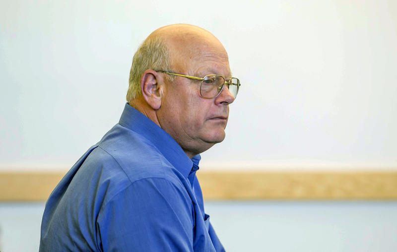 Sen. Norm McAllister, shown here in May, 2015 at his arraignment on sex crimes charges, denies allegations that he sexually assaulted three women. McAllister has refused to resign despite public outcry over the allegations.
