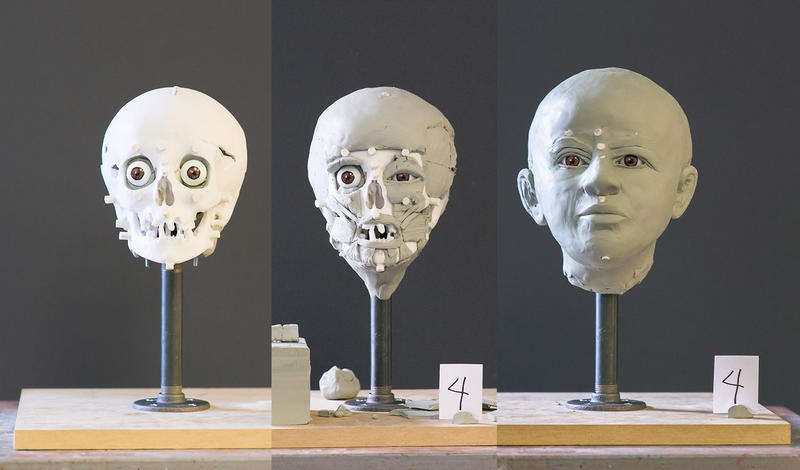 Middlebury police enlisted the help of a forensic imaging specialist to create clay sculptures of the faces of two victims of a 1935 murder in Middlebury, in hopes of identifying them.