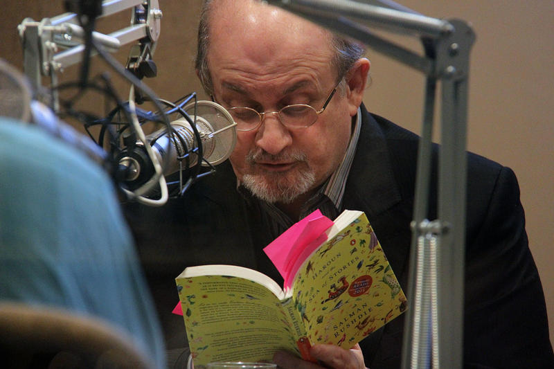 "Author Salman Rushdie reads from ""Haroun and the Sea of Stories"" at VPR's studios. The book is this year's selection for Vermont Reads, a statewide reading collaboration between VPR and the Vermont Humanities Council."