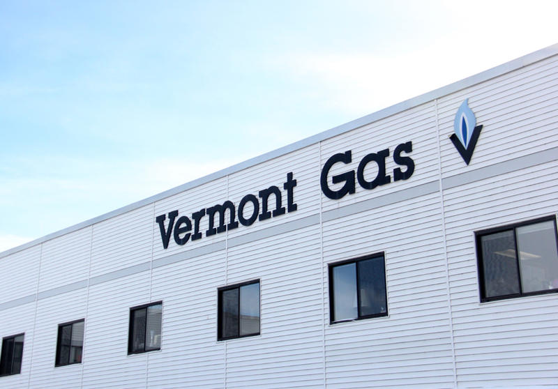 Exterior of the Vermont Gas building.