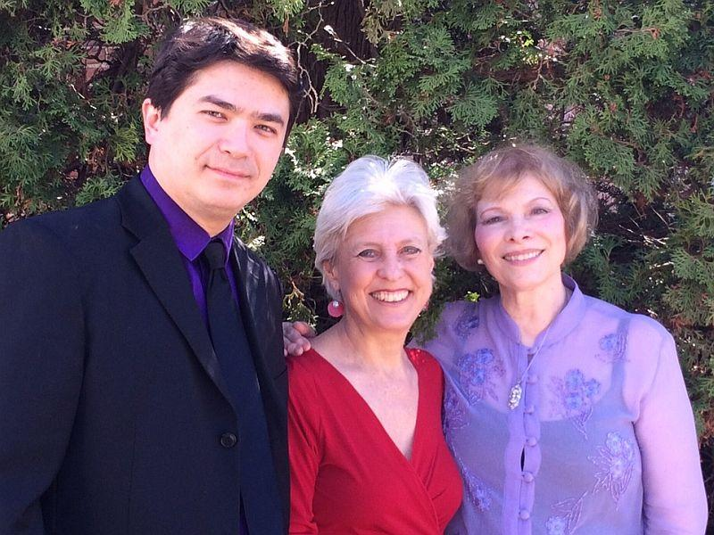 Violinist Omar Chen Guey, pianist Evelyn Zuckerman and cellist Linda Galvan of Camerata New England visit on Friday.