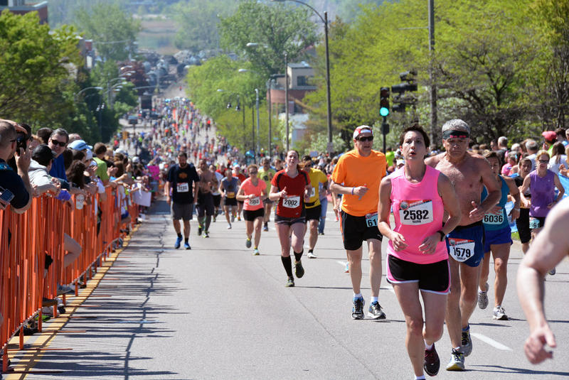 Runners hit the streets of Burlington for the 2014 Vermont City Marathon. The relay event has grown to 1,775 teams.