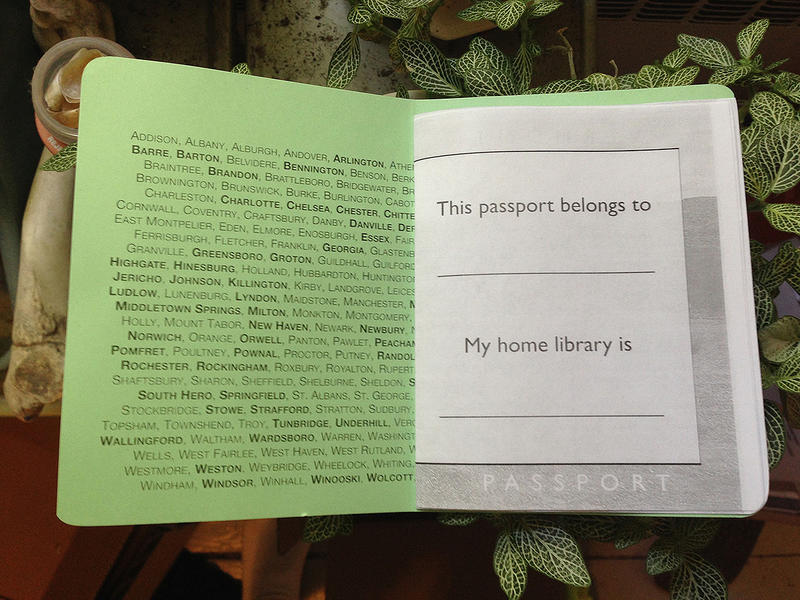 A peek inside the Passport to Vermont Libraries.