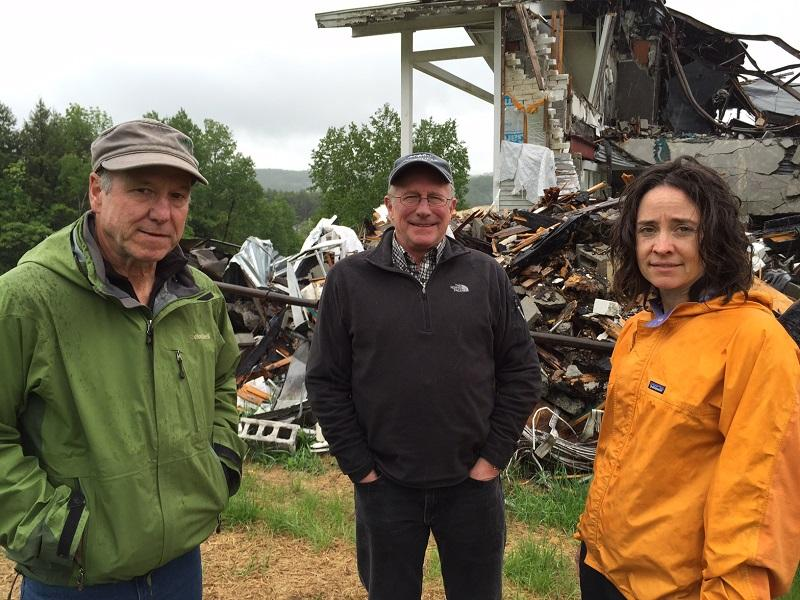 Jim Lyall, Ted Siegler and Kate Wanner are leading an effort to raise money to purchase and preserve part of Mt. Ascutney for a variety of recreational uses.