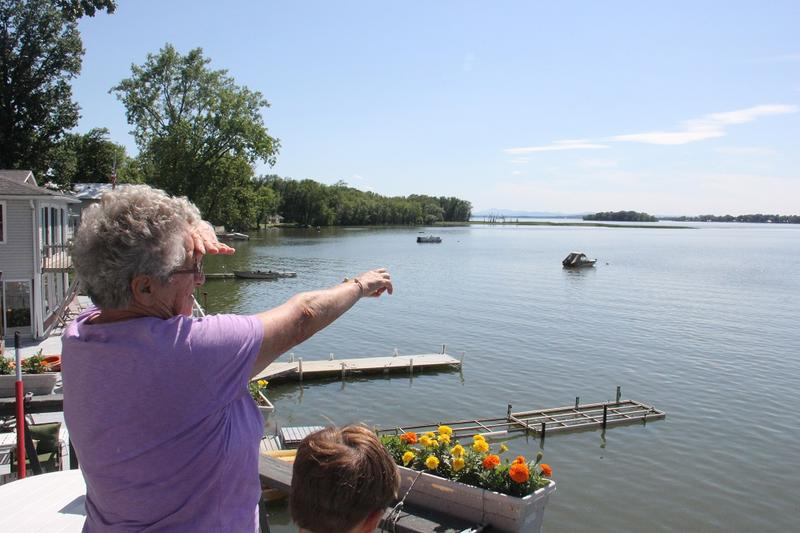 Enid Letourneau's children learned to swim in St. Albans Bay, but after years of blue-green algae blooms she doesn't allow her grandson into the water. Thirty seven properties on her road have been devalued by $50,000 due to pollution, officials say.