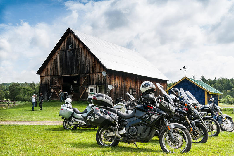 Bikes lined up outside a stop on the 2014 Road Pitch tour. The tour, organized by FreshTracks Capital, brings investors, entrepreneurs and business advisors around Vermont to hear business pitches.
