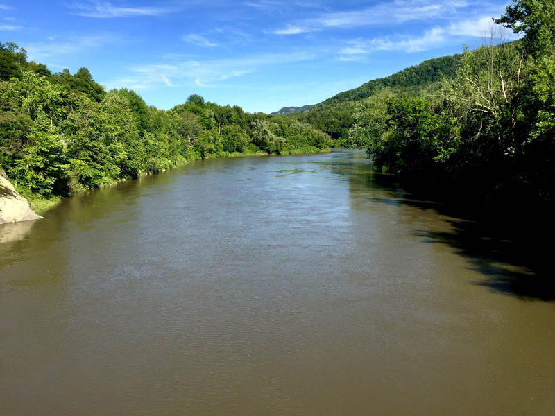 The Winooski River runs high along Route 2 through Richmond on July 19. So far in 2015, more than 1.5 million gallons of sewage and stormwater have flowed into the state's waterways in 15 authorized overflows.