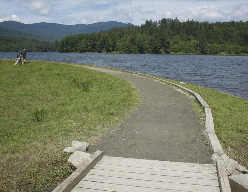 The Waterbury Reservoir is pictured from the Universal Access Trail in the Waterbury Center State Park. Twenty-five years after the Americans with Disabilities Act was passed, efforts are being taken to make outdoor space accessible for all.
