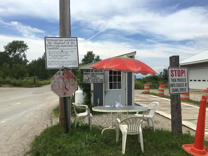 Bristol's unlined landfill, a weekly gathering place for many in town, was losing money as residents recycle more of their refuse and pay to have their trash picked up. On Aug. 1, the garbage will be buried for the last time.