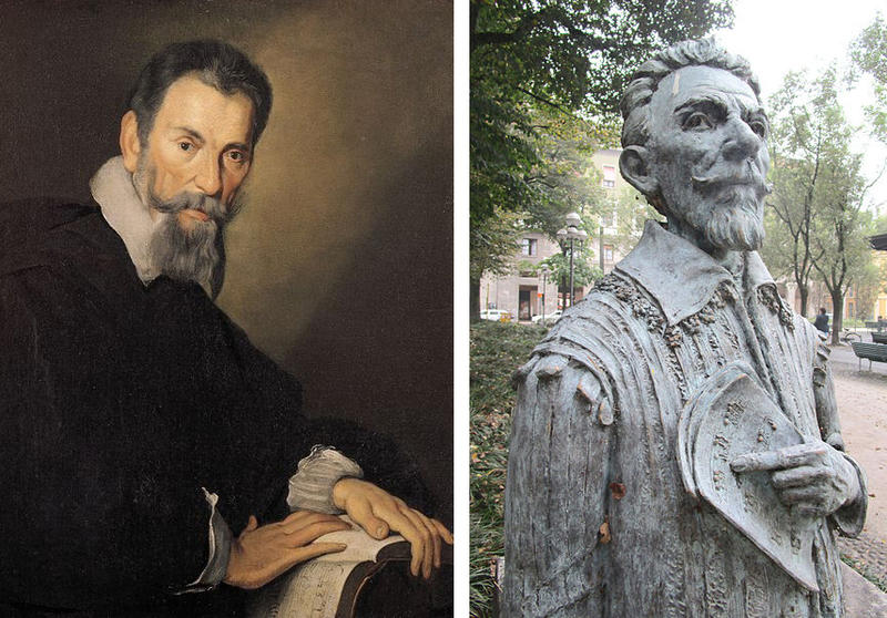 Claudio Monteverdi's works mark the boundary between the Renaissance and the Baroque.
